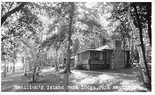 Park Rapids Minnesota Hamiltons Island Park Real Photo Antique Postcard K48793