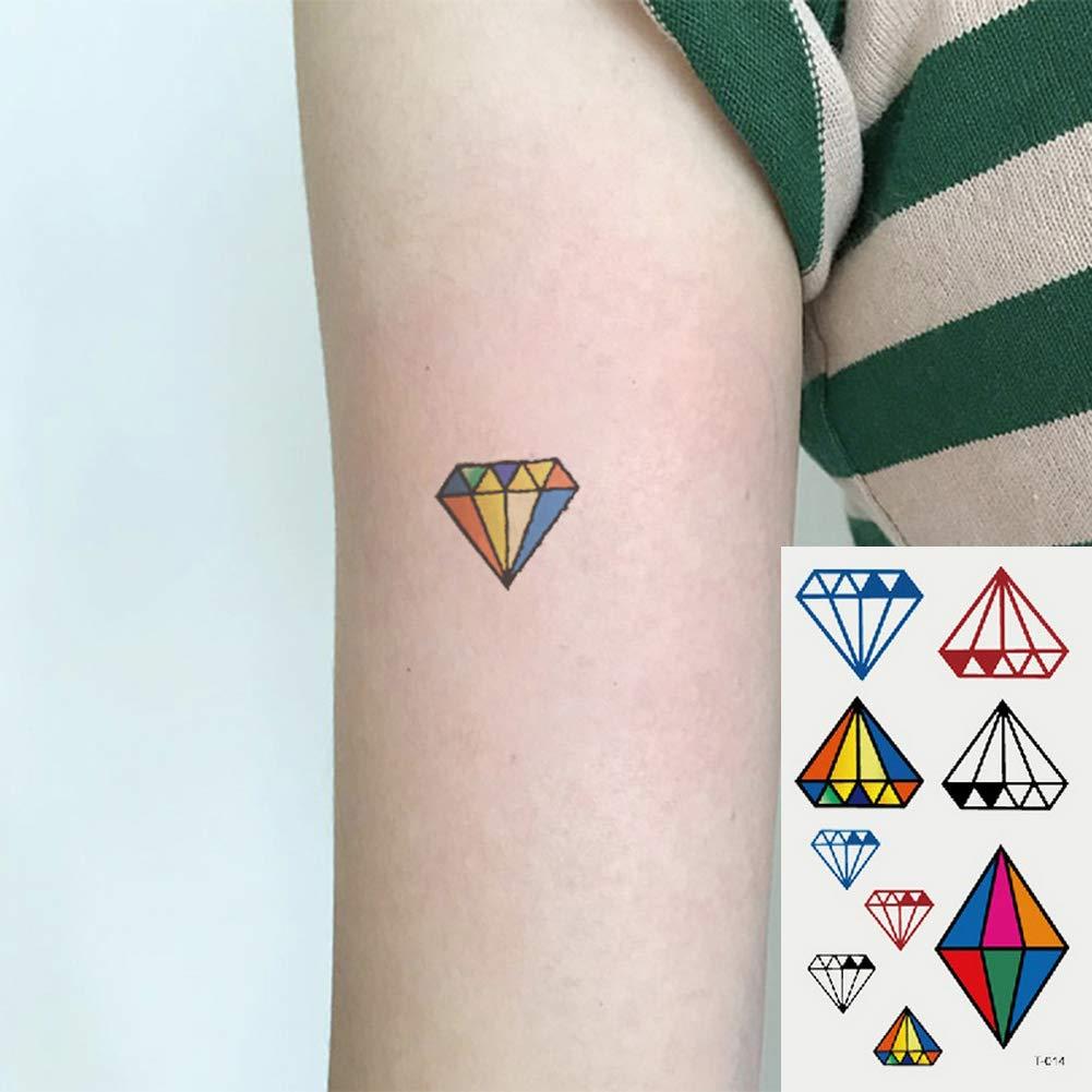 Oottati 2 Hojas Pequeño Lindo Tatuaje Temporal Tattoo Diamante De ...