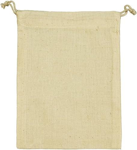 Siglo XXI 10 x Bolsa algodon natural Jassz 20 x 15 cm. con cordon ...