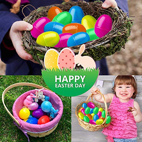 30 PCS Easter Eggs Basket Stuffers Plush Bunnies Toy Plastic Easter Eggs Fillers Bunny Kids Party Favors Surprise Easter Eggs Hunt Games Supplies Toddler Girls Toys Birthday Gifts Goodies bags by BSWEEII (Image #3)