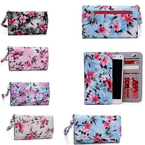 Cellphone holder wallet with wrist strap- Universal fit for Huawei Honor 3C Play