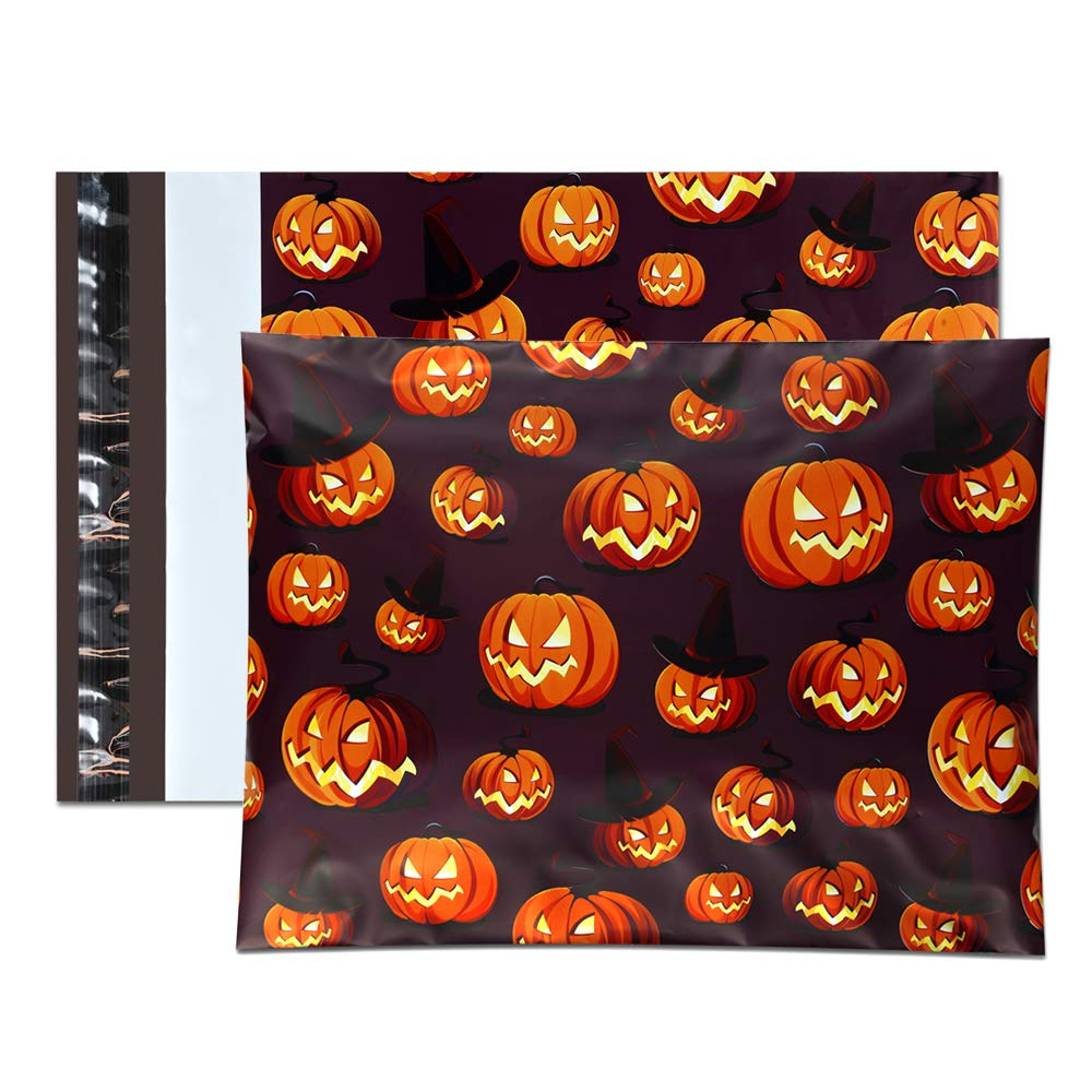 UCGOU 10x13'' Poly Mailers Shipping Envelopes Boutique Custom Bags, Premium Halloween Designer, Thickness 2.35MIL, Pack of 100