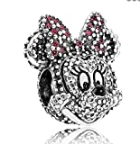 PANDORA USB794500 Disney Sparkling Minnie Portrait Charm, Limited Edition