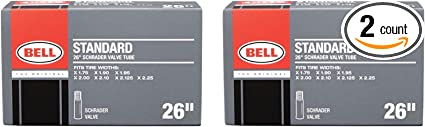 """4 Bell 26/"""" Bicycle Inner Tube Fits Tire Widths X 1.75-2.25 Standard Valve for sale online"""