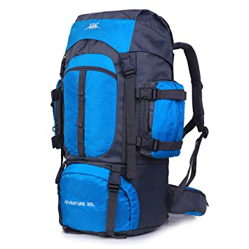 disponible en 5 colores color Navy Blu Mochila de senderismo con doble acceso tama/ño XL foolsGold