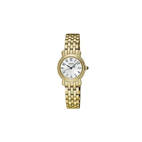 Seiko Reloj Mujer Clásico Acero Dorado