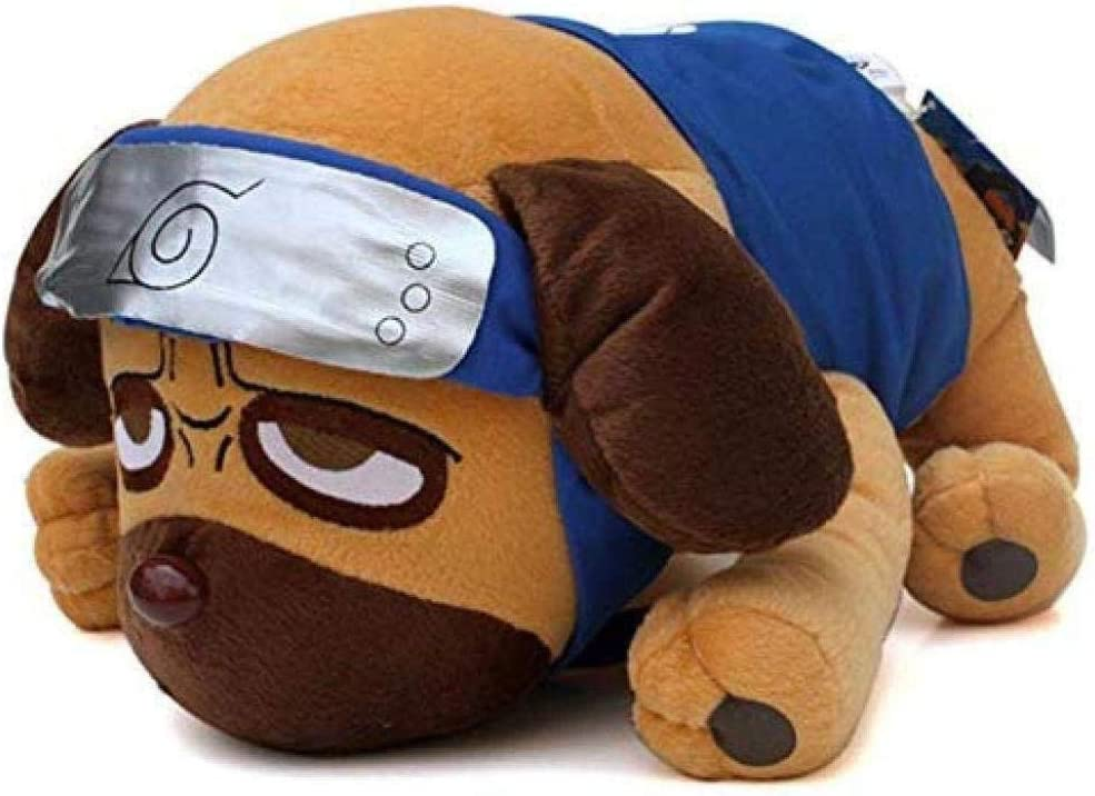 INGFBDS 40 cm Anime japonés Dibujos Animados Naruto Kakashi pakkun Perro Juguetes de Peluche muñeca Suave Juguetes de Peluche para niños niños