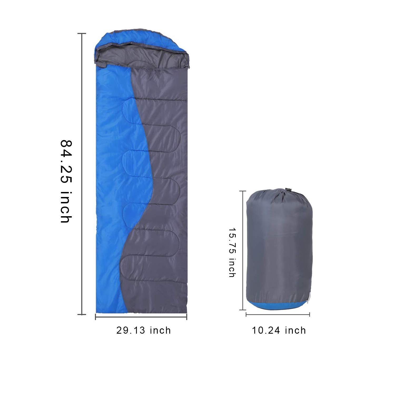 ZENITHIKE Sleeping Bag Single Envelope Portable Adult Sleeping Bag 70.8+11.8 Size: +29.5 Inch Great for 4 Season