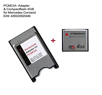 Amazon.com: Compact Flash Card adaptador PCMCIA con tarjeta ...