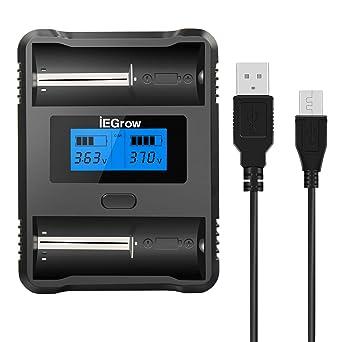 Amazon.com: iEGrow - Cargador de batería para batería Ni-MH ...