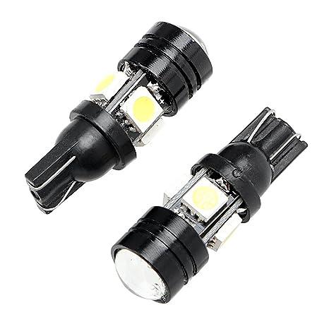 1 par de luces LED para matrícula de coche T10 W5W