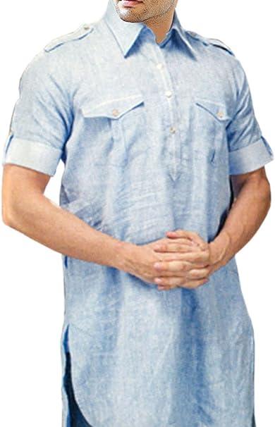 Amazon.com: INMONARCH Mens túnicas estilo cielo azul ropa ...