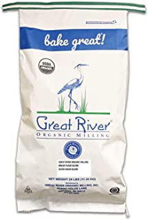 product image for Great River Organic Milling, Bread Flour Blend, Seven Grain Blend, Stone Ground, Organic, 25-Pounds (Pack of 1)