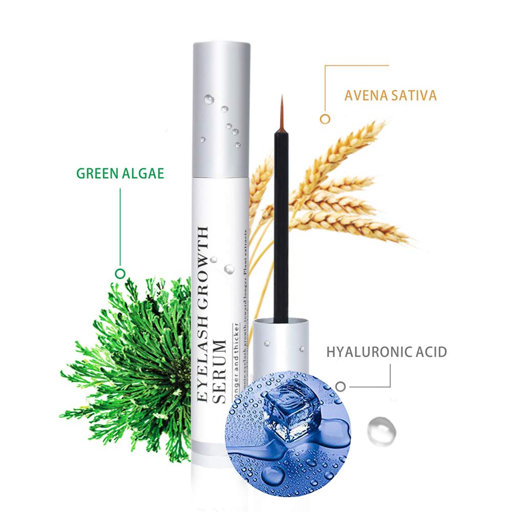 AGOPLEE Natural Eyelash Growth Enhancer & Brow Serum - FDA Approved Brow & Lash Enhancing Formula and Rapid Brow Growing Treatment for Long, Thick Looking Lashes and Eyebrows