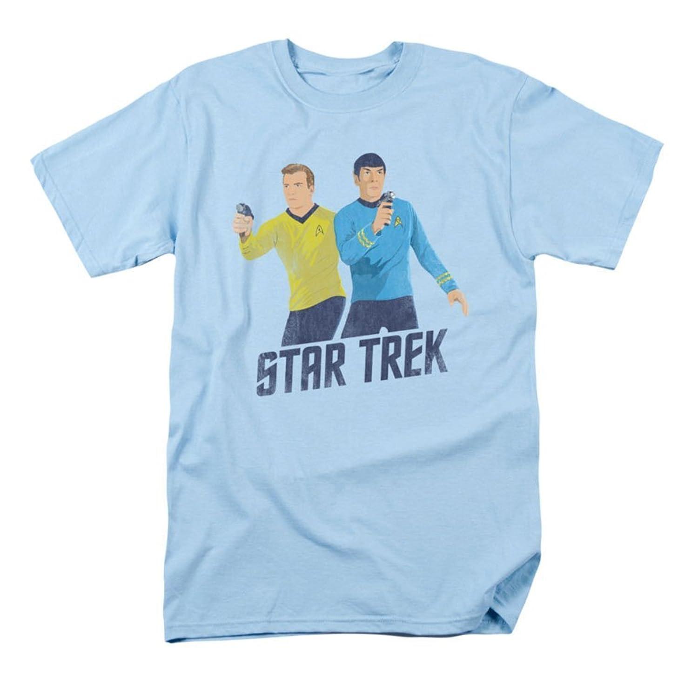 Star Trek - Mens Phasers Ready T-Shirt In Light Blue