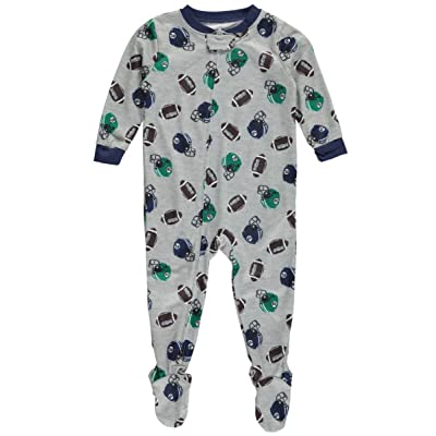 "Carter's Baby Boys' ""Peewee Football"" Footed Pajamas - gray multi, 24 months"