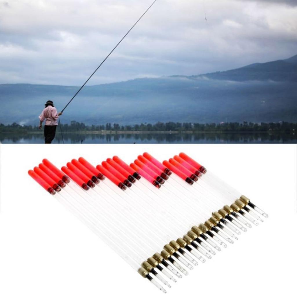 geshiglobal 20/Transparent Waggler Posen Floating R/öhren Stiel Kits Tackle Zubeh/ör