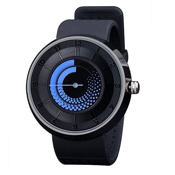 Relojes de Gift/rotación/Tridimensional/llama/La placa giratoria de relojes personalizados/Transpirable reloj de la correa-A: Amazon.es: Relojes