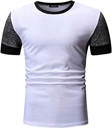 Men Asymmetrical Zipper Decor Summer Short Sleeve Fashion Slim Fit T-shirt Top