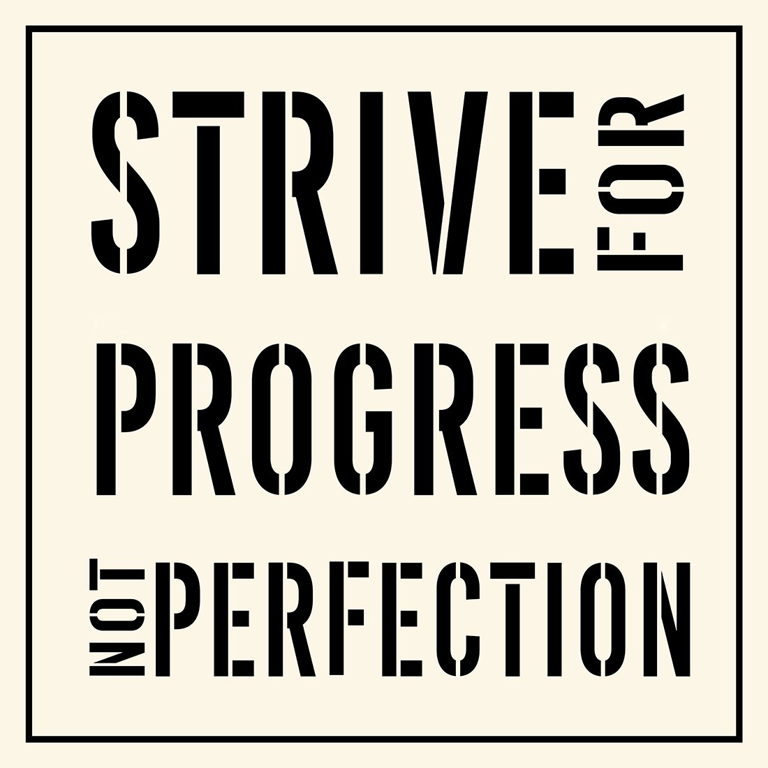 This Is Progress No Longer Printing On >> Amazon Com Meishe Art Modern Poster Print Inspirational Quotes