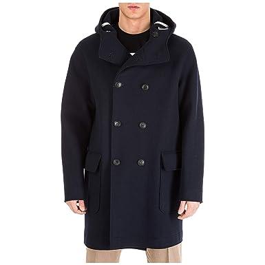 100% authentic aac81 0a792 Emporio Armani Cappotto Uomo Blu 50 EU: Amazon.it: Abbigliamento