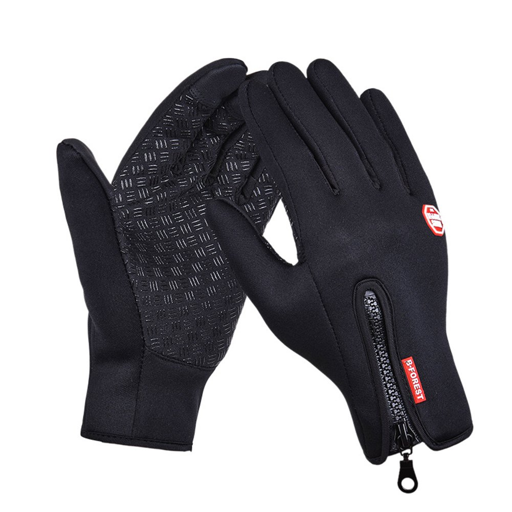 Winter Touch Screen Gloves Waterproof Windproof Glove for Ski Snowboard Biking Motorcycle Full Finger Gloves (M, Black) Lesley Ye