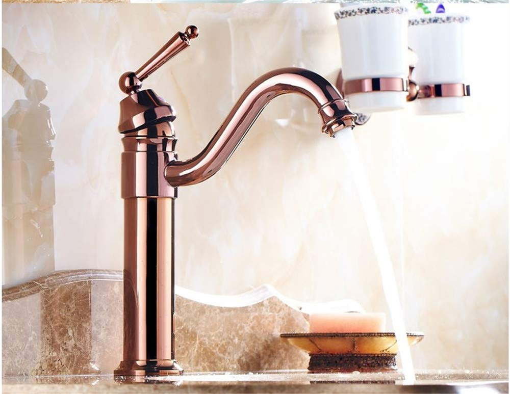 Guolaoer Copper Basin Faucet Hot And Cold Washbasin Faucet    Brass
