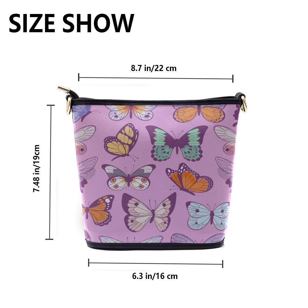 Mens Shoulder Messenger Bag Colorful Different Summer Butterflies Multi-functional Wristlet Zipper Pocket Small Wristlet Fashion Bag Women Men Shoulder Crossbody Bag Men Crossbody Messenger Bag