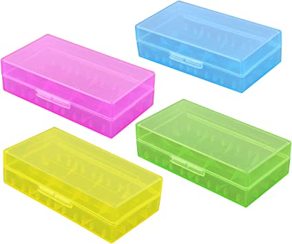 Caja de Almacenamiento de batería de plástico Duro Transparente ...