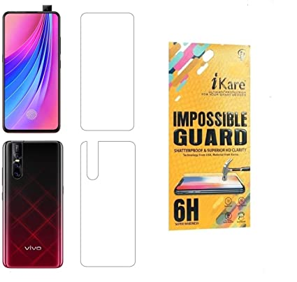 iKare Impossible Vivo V15 Pro Front and Back Tempered Screen Guard for Vivo  v15 Pro - Transparent (Does not Cover The Edges)