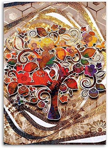 Wall Art XXL Abstract Image Photo Decoration Tree of Life Multicolor 80x120 cm: Amazon.es: Hogar