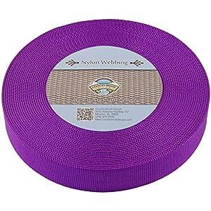 Country Brook Design | Heavy Nylon Webbing (Purple, 10 Yards, 1 1/2 Inch)