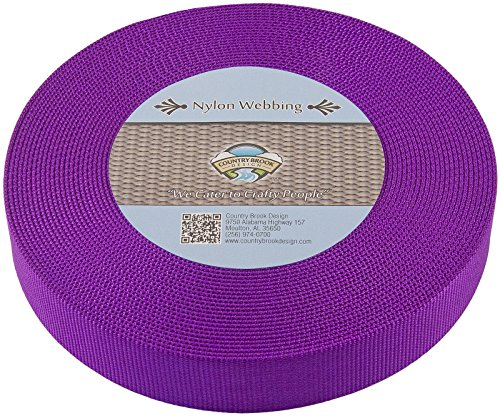 Country Brook Design | Heavy Nylon Webbing (Purple, 10 Yards, 1 1/2 Inch)
