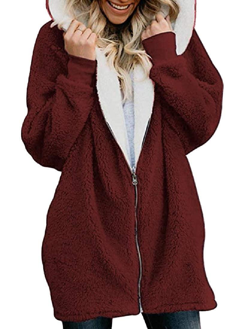Tootless-Women Loose-Fit Shaggy Tracksuit Top