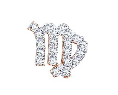 amazon valentine sale round cut white natural diamond virgo Long Diamond Earrings valentine sale round cut white natural diamond virgo zodiac single stud earring in 10k solid rose