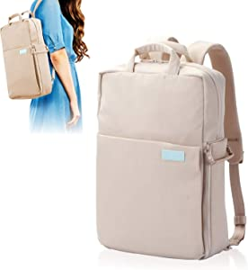 ELECOM Offtoco 2WAY Laptop Sleeve Backpack, Handbag, Limited Color Model, Multiple Inner Pockets, Water Repellent Finish, Support Up to 13.3 inch/Sand Beige/BM-OF04BE