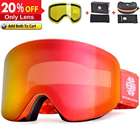 8a842fa8e6ea Amazon.com   Snowledge Ski Goggles Women