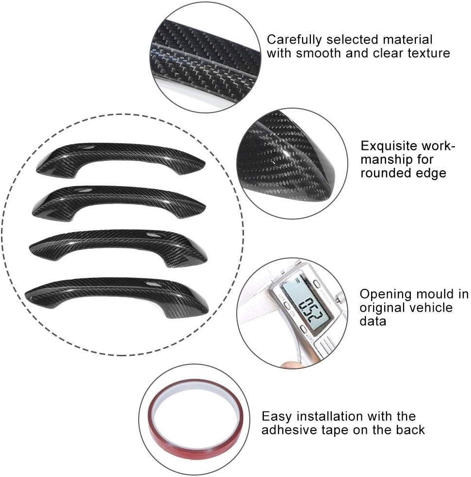 4pcs Door Handle Cover Trim Carbon Fiber Fit for Porsche Cayenne Fit for Porsche Cayenne 2018-2019 Car Door Handle Cover