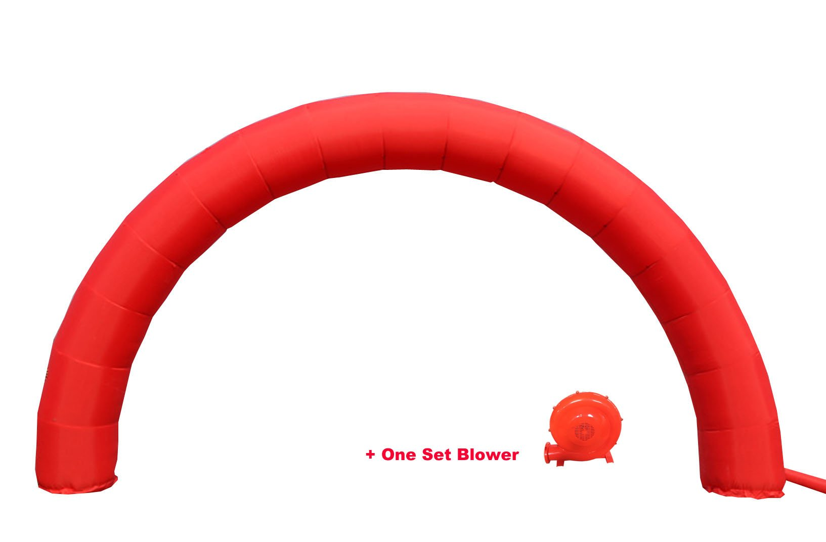 INTBUYING Inflatable Arch 20ftX10 Foot Red Color Advertising Birthday Party Decoration Arch with 110V Blower