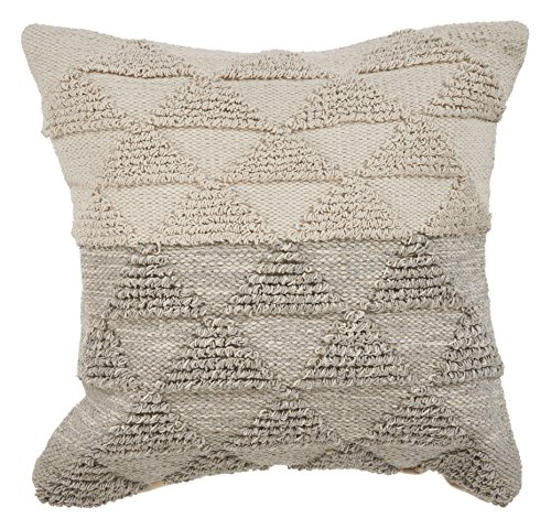 (LR Resources PILLO07334GYNIIPL Gray Gradient Throw Pillow, 18