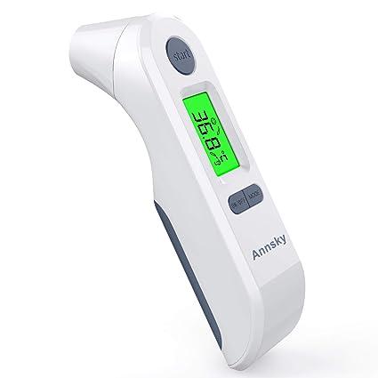 Termómetro Digital Frente y Oído, Annsky Termómetro Infrarrojo Médico apto para la Bebés, Niños