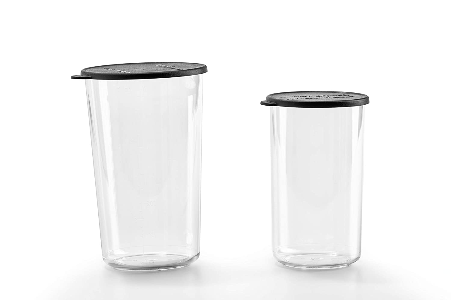 Bamix 400ml and 600ml Beakers with Lids – Set of 2 – Practical and Durable Containers – Perfect Accessory to Immersion Blenders – Freezer, Microwave, and Dishwasher Safe – BPA-Free