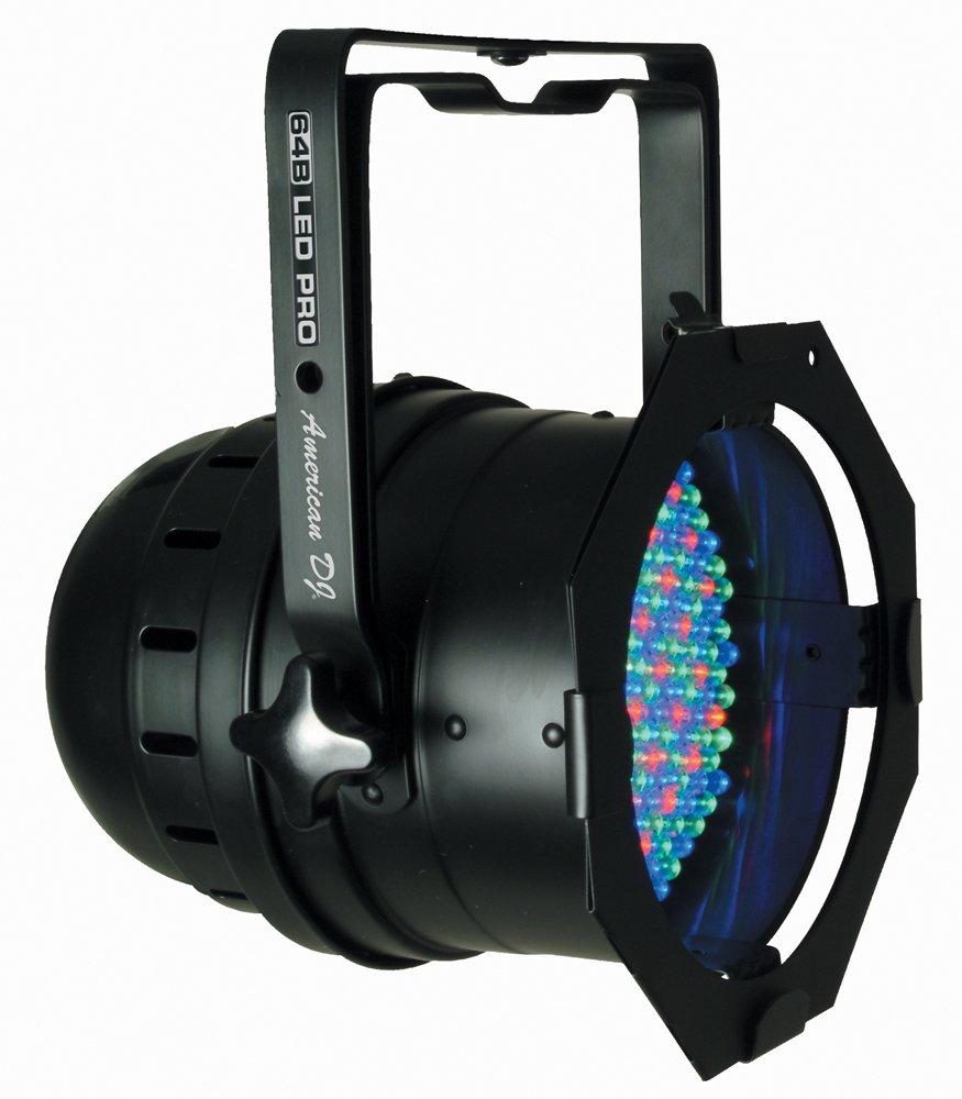 amazon com american dj 64b led pro black can led rgb color mixing