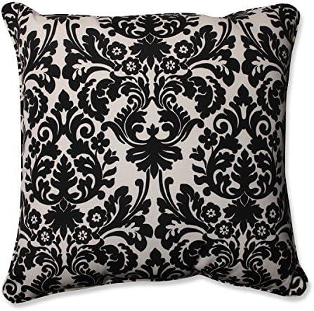 Pillow Perfect Outdoor Indoor Baja Linen Floor Pillow, 25 , Solid, Lime Green