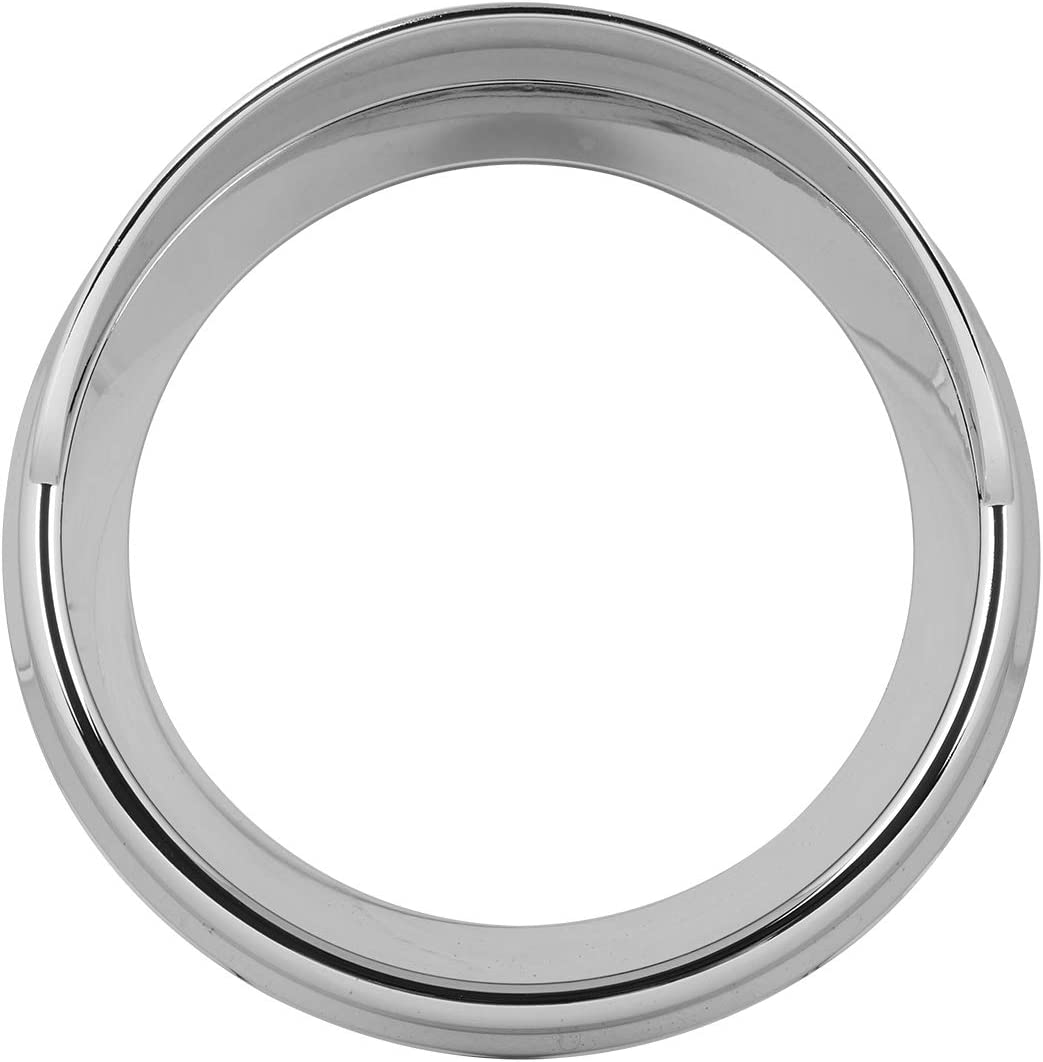 GG Grand General 68223 Chrome Plastic Small Gauge Cover with Visor for Kenworth