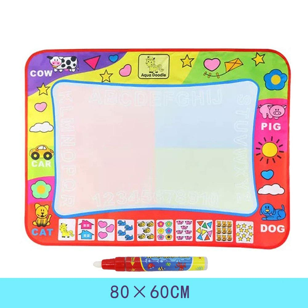 Color : A AIOJY Blanket Baby Color Canvas with Magic Pens Educational Child Magical Water Canvas Mat Graffiti Toys for Age 1-12 Years Old Painting Writing Doodle Board Toy Girls Boys Toddler Gift