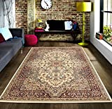 Cheap Msrugs Traditional Oriental Medallion Red Beige Area Rug Persian Style Rug