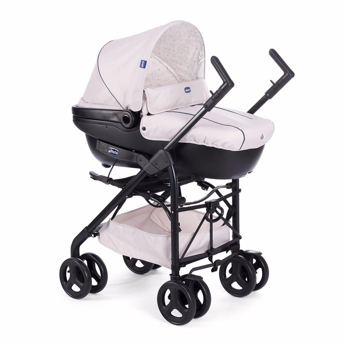Chicco Trío Sprint - Sistema de paseo y viaje 3 en 1, capazo/carrito/coche, color beige