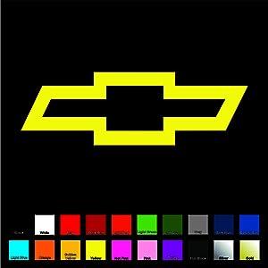 Chevy Vinyl Decal/Sticker - Yellow 4