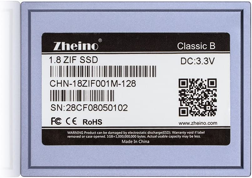 Zheino 1,8 Zoll Zif SSD 128GB 1.8 Pata IDE 40Pin Zif 40 Patas ...